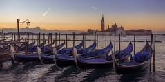 Gondolas at dawn, again
