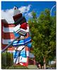 Car Door Sculpture (HelenV18) Tags: sculpture downtown albuquerque downtownalbuquerque albuquerquenm cardoors citydailyphoto albuquerquedailyphoto cardoorsculpture