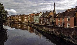 Norwich: Reflections and soft light on the Yare