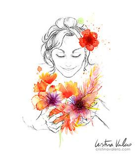 Cerrar los ojos, y oler las flores