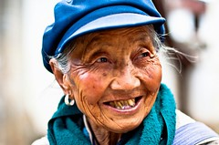 you make me laugh (Mehdi LABIDI) Tags: world china old portrait people color nikon village yunnan unlimited personne chine 18200mm d90 portraitunlimited chinechinad90