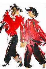 les amis en promenade (aventuriero@ymail.com) Tags: art peinture promenade amis quimper aventuriero