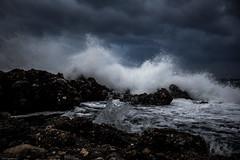 Africa Blowing Into Greece (janwellmann) Tags: ocean storm nature water clouds rocks waves greece gr winds kardamili peloponnisosdytikielladakeio peloponnisosdytikielladakeionio