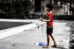boy_kite (astitva_k) Tags: blue red kite play selective