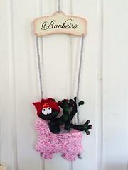 (Pina & Ju) Tags: handmade artesanato guirlanda porta sapo patchwork banheiro tecido enfeite sapinha