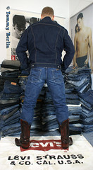 self2804 (Tommy Berlin) Tags: men ass butt jeans ars cowboyboots wrangler levisjacket