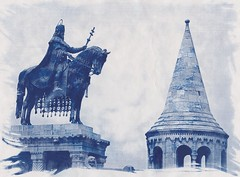 Fisherman's Bastian, Budapest (scanned cyanotype print from digital inter-negative) (rochpaul5) Tags: darkroom iron historical process alternative cyanotype prussian ferri ferric