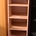 Tall beech laminate slim shelf units