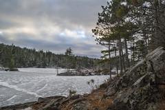 Charlie's Lake Hiking Trail (HalifaxTrails.ca) Tags: snow lake ice winter charlies kearney frozen halifax novascotia hiking nature sky clouds sunset