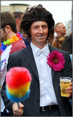 It's not Ken Dodd (* RICHARD M (Over 6 million views)) Tags: liverpoolicons liverpoolpride liverpudlians scousers liverpool merseyside capitalofculture europeancapitalofculture street portraits streetportraits smiles fun falseteeth wig ticklingstick comedian comic celebrity celebrities entertainer performer octogenarian plasticglass pintglass pintoflager bowtie whitebowtie artificialflower happy happiness lol kennetharthurdodd obe kendoddlookalike lookalikes characters singer kendodd doddy beerglass