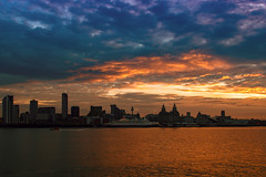 Good Morning from Liverpool 2 (redbankmoz) Tags: seascape landscspe sunrise liverbuilding threegraces pierhead rivermersey
