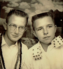 Photo Booth (~ Lone Wadi Archives ~) Tags: photobooth portrait lostphoto foundphoto retro 1950s mysterious unknown dice