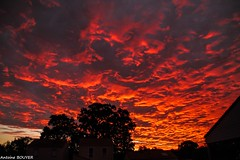 Lever du soleil (antoinebouyer) Tags: orange rouge couleur matin ciel temps météo cloud sky nuage