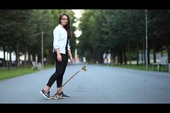 * (Henrik ohne d) Tags: eos5dmk2 ef85mmf18 august2016 portrait sanita skater longboard longboarder