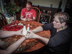 The Hand off (raddad! aka Randy Knauf) Tags: raddad6735212 raddad randyknauf raddad4114 randy knauf gingerbreadman gingerbread gingerbreadmen chirstmastradition hickory hickorynorthcarolina family