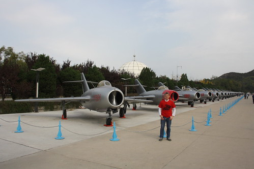 Grant at the China Aviation Museum, Xiaotangshan 30th October 2016