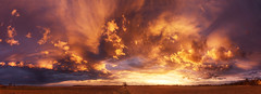 Hungarian skies XXII. (Zsolt Zsigmond) Tags: panorama sky sunset landscape skyscape clouds plain field nature fiery light