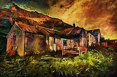 Farmhouse After Volcano Eruption (D'ArcyG) Tags: farmhouse iceland ashcan impressionistic mountain volcano