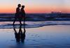 Companion-ship (Flick'gAbility) Tags: oceanbeach sanfrancisco california pacificocean dusk twilight couple silhouette ship lights shadowy reflection shoreline beach water blue pink orange canonef50mmf18ii
