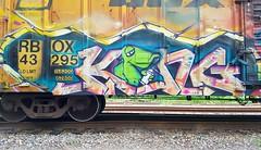 KING157 (BLACK VOMIT) Tags: graffiti king 157 king157 lizard freight train box car boxcar