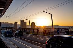 Sunset at 5.30 PM! (jaeschol) Tags: europa hardbruecke hardbrücke kantonzürich kontinent kreis5 schweiz sonnenuntergang stadtzürich suisse switzerland zeit sunset