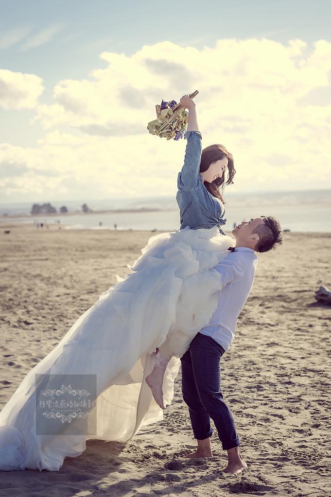 尼爾森海灘拍婚紗,海外婚紗,紐西蘭婚紗攝影,視覺流感婚紗攝影工作室,中和婚紗