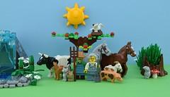 🐄The farm animals🐷 (Alex THELEGOFAN) Tags: lego legography minifigure minifigures minifig minifigurine minifigs minifigurines farm animal animals cow goat cat dog chicken bird pig horse donkey gray frog