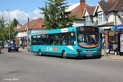Arriva Midlands 3807 MX61AWU (Andy4014) Tags: bus leicester pulsar vdl sb200 arrivamidlands mx61awu
