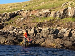 Elin has reached the Shore at Nlsoy. (purkil) Tags: swimming shore nlsoy ovastevna