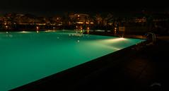 A night at the pool (PauliMatze) Tags: pool nightshot nacht kreta greece crete griechenland nachtaufnahme langzeitbelichtung anissabeach