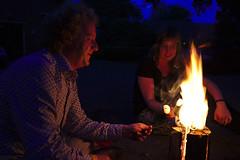 Roasting Marshmallows (dvanzuijlekom) Tags: party feest fire evening spider lowlight arnhem august roast flame marshmallows kkn brenno winteriscoming vuur winterishere 2015 trouwfeest kumbaya radarweg canonef35mmf14lusm roosteren koningsweg hackerspace brennodewinter canoneos5dmarkiii hack42 swedishcandle kkn6 swedishtorch buitenplaatskoningsweg kampkoningswegnoord zweedsefakkel