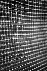 Attention Please (belleshaw) Tags: blackandwhite detail metal grid rust mesh bokeh decay obsession screen lacountyfair oldpaint pomonaca