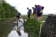 The Tide is High (grigorisgirl) Tags: gate lads somerset hikers walkers exmoor porlock wetfeet springtide porlockmarsh