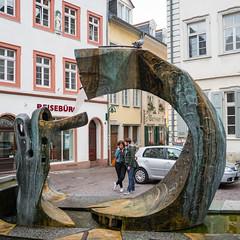 Heidelberg-2015 (ASJHill) Tags: street people urban sculpture water fountain germany de colours young heidelberg badenwürttemberg 2015