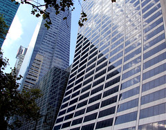 Optic Center (Apollo51x) Tags: street travel windows newyork tower skyline america skyscraper skyscape university optical icon manhattanskyline curved bryantpark optics optometry midtownmanhattan gracebuilding