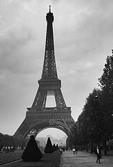 Le Tour (jcbkk1956) Tags: autumn blackandwhite paris france film analog 35mm mono pentax eiffeltower slide scanned manual grainy letoureiffel worldtrekker