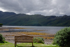 A seat with a view Corran Loch Hourn Scotland UK (Margaret Thomas11) Tags: infocus highquality