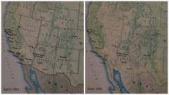 USAir's California network in 1991, before and after (airbus777) Tags: california diagram network 1991 psa usair usairways bae146 tbt routemap throwbackthursday