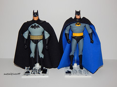 DC Collectibles Batman the animated series comparison (metaldriver89) Tags: new two dark toy paul toys actionfigure dc kevin action bruce wayne super hero classics superhero batman knight cape backdrop series animated adventures cloth custom gotham universe figures mattel collectibles conroy timm brucewayne the dini batarang layered btas brucetimm thedarkknight acba theanimatedseries dcuc dccollectibles thenewbatmanadventures dcuniverseclassics combatbelt