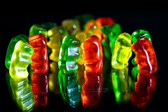 ~ gummy bears candy (bw.futures) Tags: lighting food colour art colors blackbackground canon eos colorful neon colours foto candy bright sweet gummibears bears knit vivid indoor vegetable 100mm depthoffield vietnam whitebackground colourful gummybears saigon catchy gummy 100mmf28 canonef100mmf28usm colourartaward artlegacy bwfutures jellio gummybearscandy neonfoto