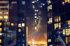 Miles Away (Louis Dazy) Tags: city portrait film skyline night analog 35mm photography lights grain melbourne