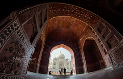 Taj Mahal, A gift of love (naimatrawan) Tags: trip travel india history love architecture photography nikon colorful tour photoshoot angle indian wide taj mahal agra tourist fisheye incredible hind shah jahan mumtaz marmar colorss rawan hindustan babur naimat travleindia