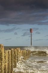 Blyth Beach Groyne (loftylion9) Tags: storm sunrise gales northumberland bamburgh holyisland lindisfarne stmarys blyth amble stmaryslighthouse dunstanburghcastle embleton coquetisland blythbeach lowhauxley bambirghcastle