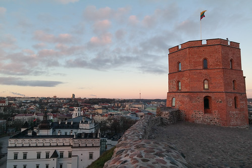 Gediminas Tower at Sunrise
