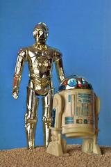 -C-3PO and R2-D2- (Felinomoruno) Tags: star kenner wars figures