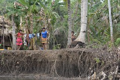 watching from the bank (cam17) Tags: panama darien emberavillage embera mogue villageofmogue dariengap puntaalegre panamadarien watchingfromthebank riverbank emberanatives emberaindians