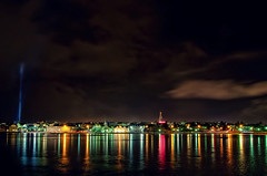 Reykjavik by night (frata60) Tags: nikon d300s tokina groothoek wideangle landscape landschap city cityscape light reykjavik iceland ijsland ijs licht stad hoofdstad capitol colors nightshot avondfotografie november skyscape sky
