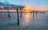 Ligado al mar 2 (sergio estevez) Tags: paisaje landscape luz largaexposición atardecer azul color cielo calma d3100 granangular nikon mar marina nubes ocaso playa loslances tarifa sol puestadesol sombra tokina1116mmf28 sergioestevez