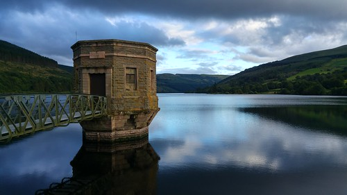 Valve tower at Talybont Reservoir