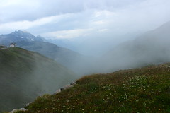 Mystery (Nathalie_Désirée) Tags: mystery switzerland furka mountain europe nature fog cloud horizon plants stones misty